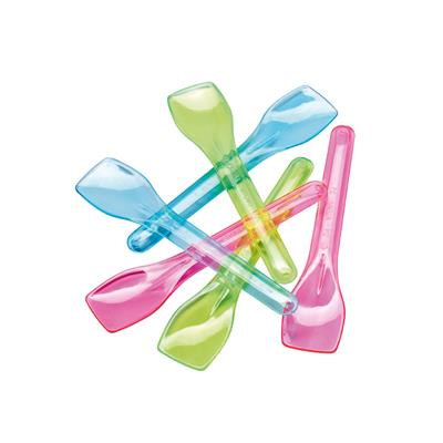 Shaped Spoons  9.5cm Trans Colours x 765