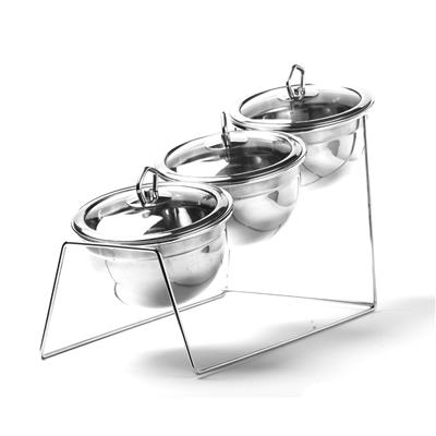 Chrome Stand (For 3 Stainless Steel Bowls)