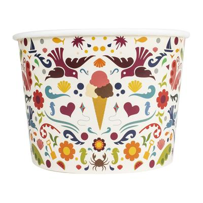 Ice Cream Tubs 516ml Love Summer x 900