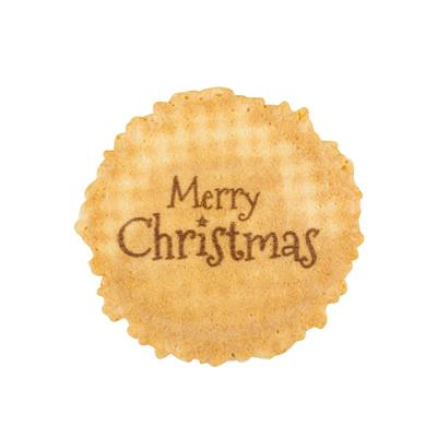 Merry Christmas design Wafer Discs 1 x 1000